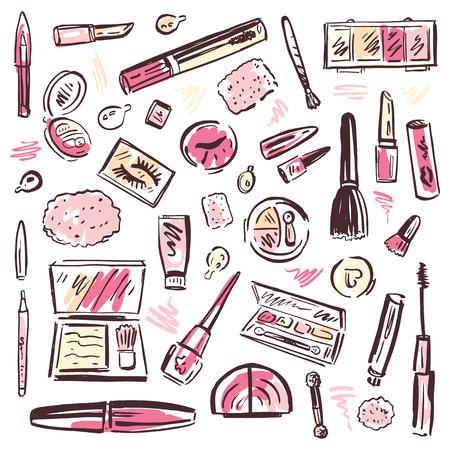 Conjunto de cosméticos de maquillaje