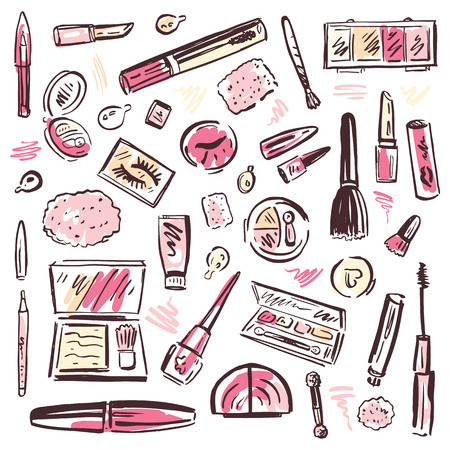 maquillage: Ensemble Cosm�tiques Maquillage Illustration
