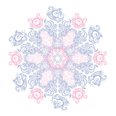 Vector vintage background. Mandala. Indian decorative pattern.