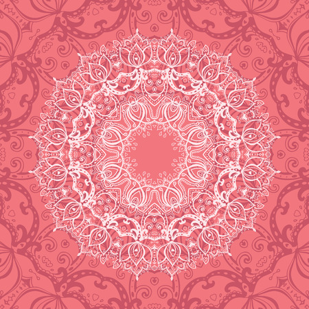 fortune flower: Pink Mandala  Illustration