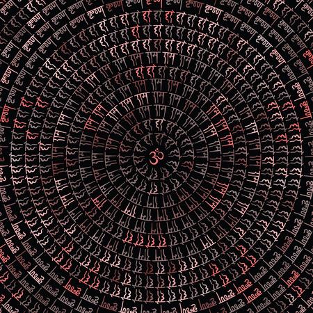Mandala. Indiase decoratief patroon. Hand Getrokken Vector achtergrond. Stock Illustratie