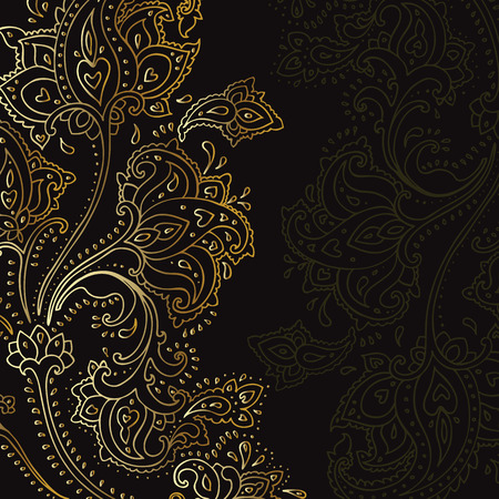 Paisley background. Hand Drawn ornament. Vector illustration.