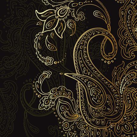 Paisley Hintergrund. Hand gezeichnet Ornament. Vektor-Illustration. Standard-Bild - 28790423