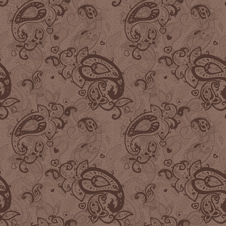 mhendi: Seamless Paisley background  Elegant Hand Drawn vctor pattern