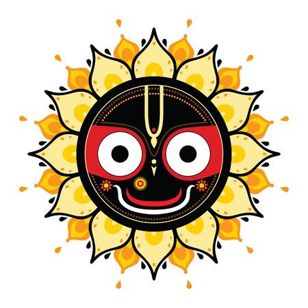 indian god: Jagannath. Indian God of the Universe. Lord Jagannatha. Illustration