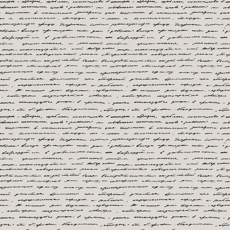 Handwriting  Seamless vector background  Vector
