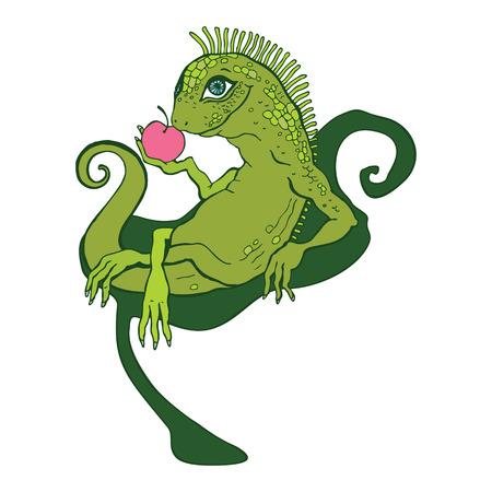 iroquois: Lizard  Illustration