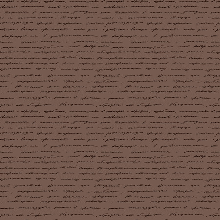 writing lines: Handwriting  Seamless vector background  Illustration