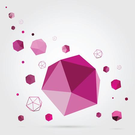 3d shape: Geometric background  3D Vector