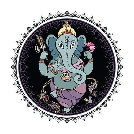 lord ganesha: Se�or Ganesha Ilustraci�n dibujado a mano Vectores