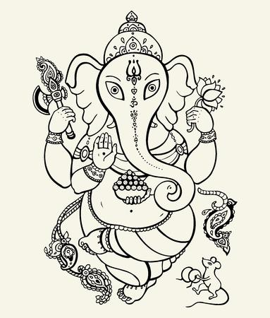 lord buddha: Lord Ganesha  Illustration