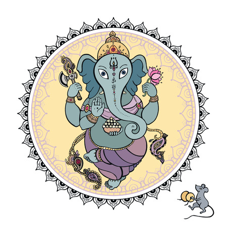 god's: Lord Ganesha Hand drawn illustration  Illustration