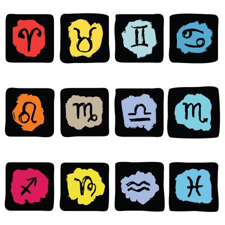 virgin: Horoscope Zodiac  Star signs, vector set. Illustration
