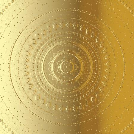 fortune flower: Mandala. Indian decorative pattern.