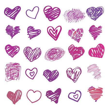 symbol hand: Liebe. Herz-Illustration isoliert.