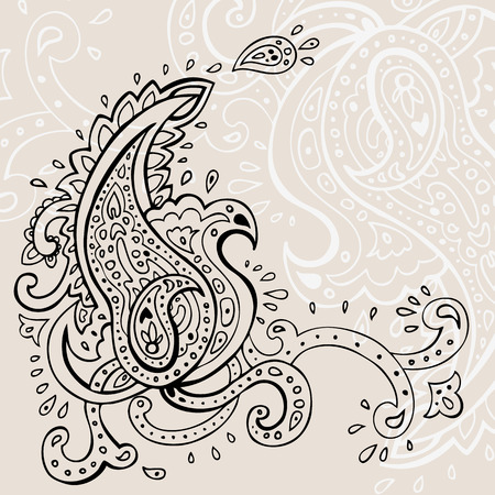 Hand Drawn Paisley ornament. Vector