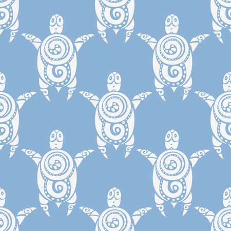 Sea Turtles.  Seamless Vector pattern. Vector