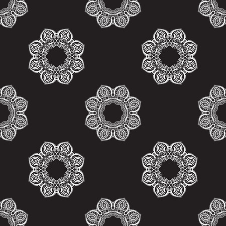 Hand drawn seamless pattern. Vector