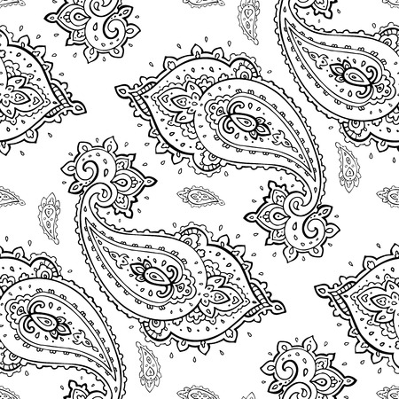 Seamless Paisley background. Vector