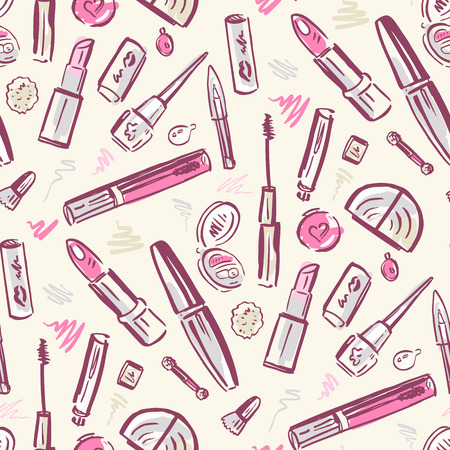Beauty products. Cosmetics. Vector