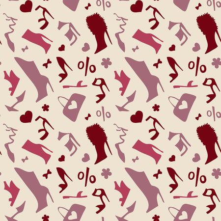 young womens: Women shoes Seamless pattern.