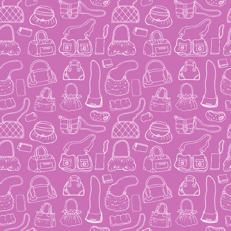 Women handbags. Seamless pattern. Vector
