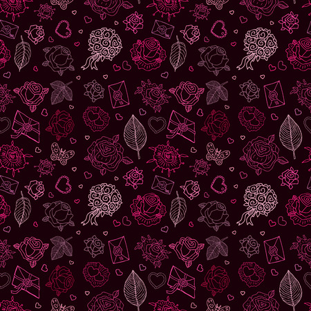 Seamless wedding patterns. Vector