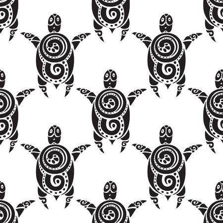 Turtles.  Seamless Vector pattern. Illustration