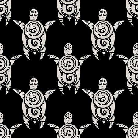 Sea Turtles.  Seamless Vector pattern. Vector