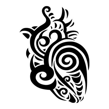 Decorative heart. Ethnic pattern. Vector