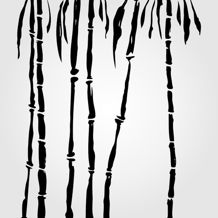 sumi e: Bamboo in Chinese style.