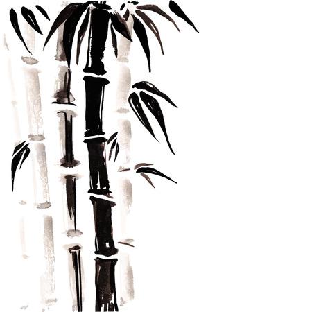 중국 스타일의 대나무.