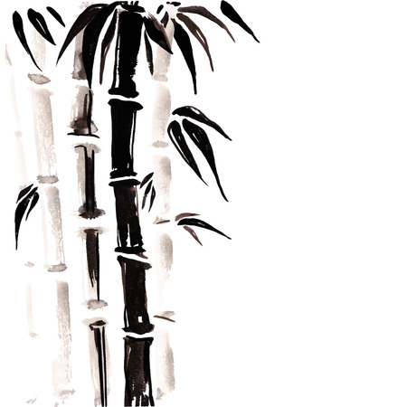 and sumi: Bamboo in Chinese style.
