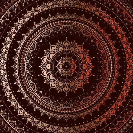black background abstract: Gold mandala