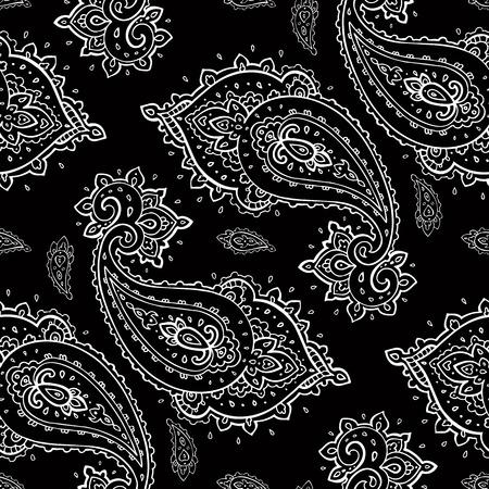 Seamless Paisley pattern.