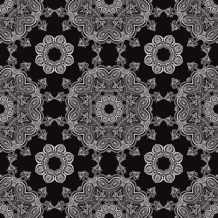 Lace. Hand drawn seamless pattern. Vector