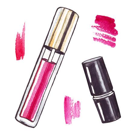 lipstick: Beautiful Watercolor Lipstick.