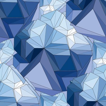 crystal background: Crystal. Seamless 3D Geometric background. Illustration