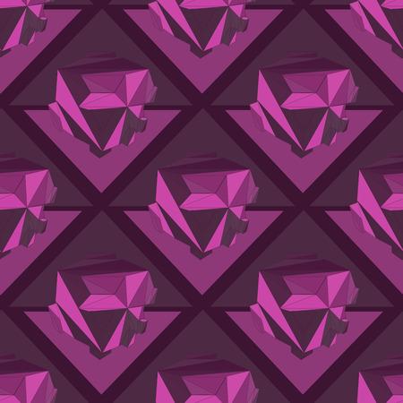 Geometric seamless background. Abstract 3D polygonal pattern. Vector