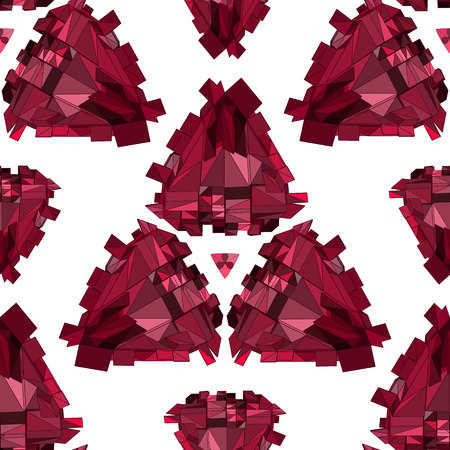 Geometric seamless . Crystal Abstract 3D polygonal pattern. Vector