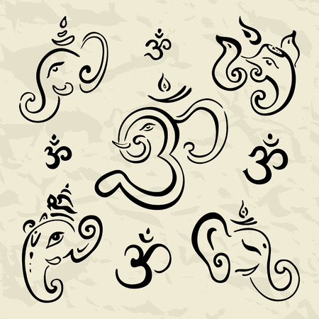god's: Ganesha Hand drawn illustration.