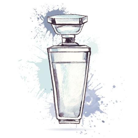 Beautiful perfume bottle. Vector
