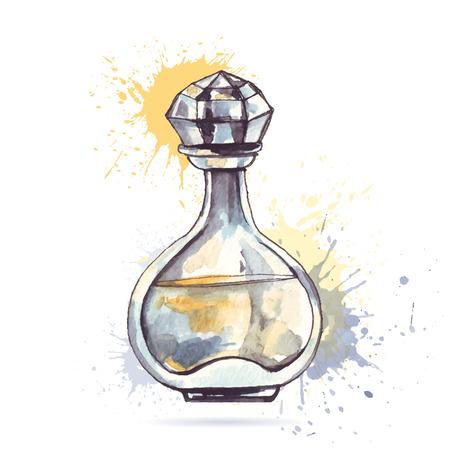 perfume: Beautiful perfume bottle.