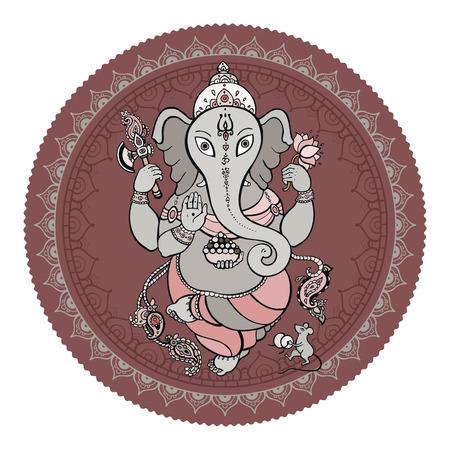 Ganesha Hand drawn illustration. Vector