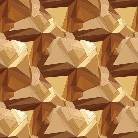 Gold seamless polygonal pattern. Vector