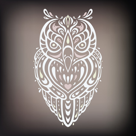 этнический: Декоративные Сова. Этническая картина. Иллюстрация