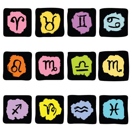 star signs: Horoscope Zodiac  Star signs, vector set. Illustration