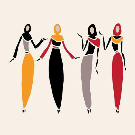 arab culture: East women in veiled.