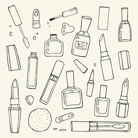Cosmetics.  Makeup set. Vectores