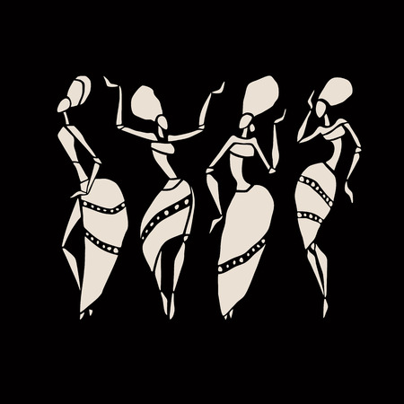 ethnographic: African silhouette set.